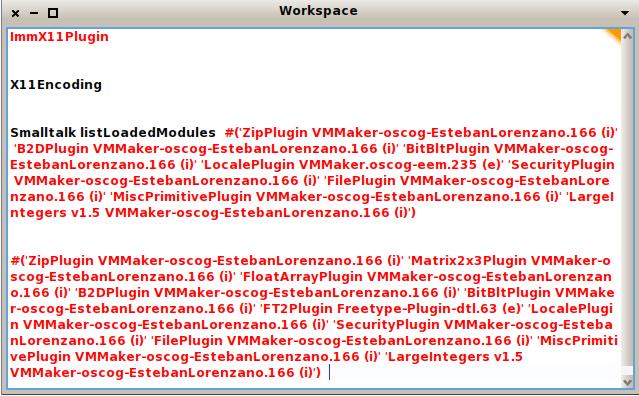 pharo loaded module list