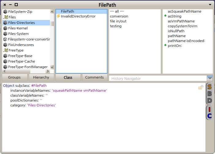 Pharo 2.0 에서의 FileDirectory 클래스